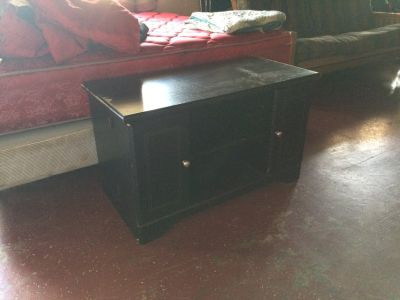 Black Entertainment TV Stand With Storage