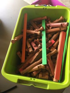 Box of Lincoln logs