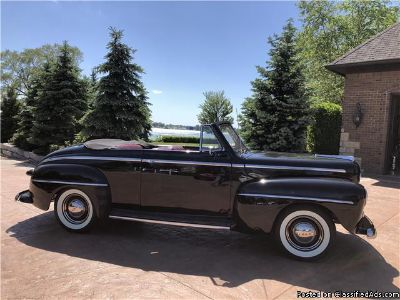 1948 Ford Super Deluxe Black Convertible 55 T