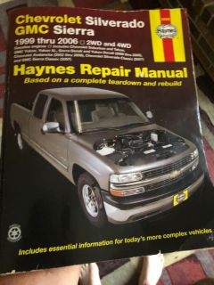 Haynes repair manual 1999-2006 Chevy/GMC full-size trucks and suv.