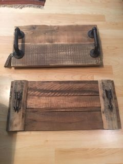 Unique handmade trays