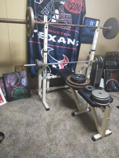 Work out bench and weight's