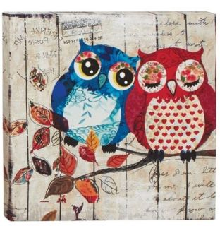 Owl wall art canvas picture