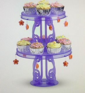 """""""NEW"""" American """"Girl Size"""" Party Cupcake / Cake stands with Charms"""