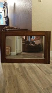 Solid Wood and Gold Trim Mirror