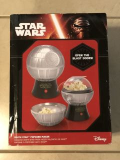 Star Wars Rogue One Death Star Popcorn Maker - Hot Air Popper w/ Removable Bowl New
