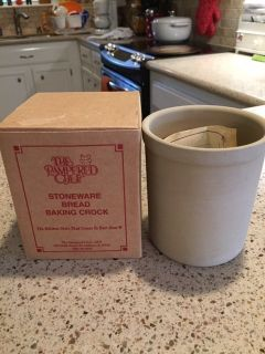 NEW-PAMPERED CHEF STONEWARE BREAD BAKING CROCK