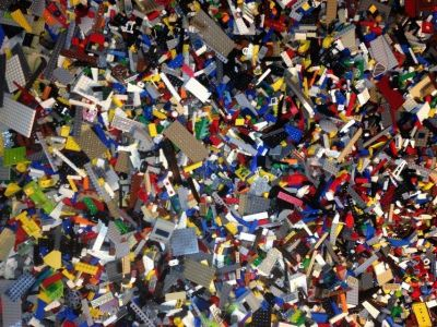 Legos 2.5 Pounds Bulk Random Clean Assorted Parts & Pieces