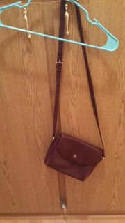 burgundy leather cross body purse