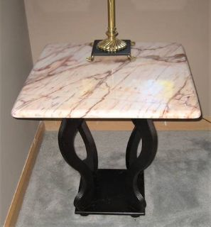 2 Marble Top End Tables / Night Stands