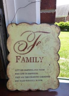 """Metal """"Family"""" Sign"""