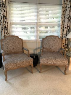 Pair of grey armchairs