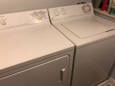 GE washer/dryer laundry pair