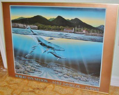 """Rare ROBERT LYN NELSON """"Maui Daybreak"""" Signed Print - Framed"""