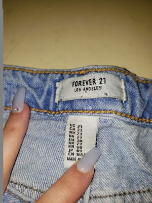 Size 27 forever 21 brand blue Jean shorts