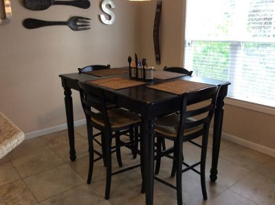 Bar Height Table + Pottery Barn Chairs