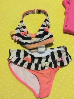Size 5 girls 2 piece bathing suit