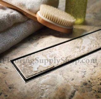 QuARTz by Aco Linear Shower Drain for Tile