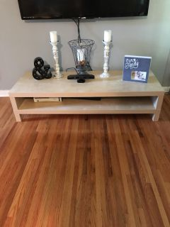 IKEA BIRCH EFFECT COLOR TV STAND