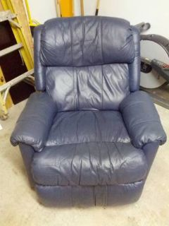 Nice Blue Leather Recliner