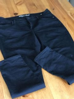 2 pair of size 14 black pants (new)