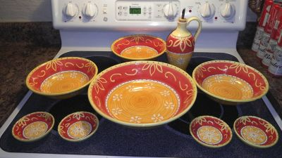 Pier one bowls and plates beautiful colors