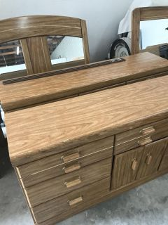 Two dressers with mirrors