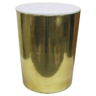 threshold Gold storage and Marble accent table drum