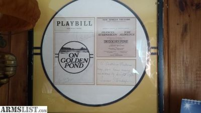 For Sale/Trade: On Golden Pond Autographed Playbill