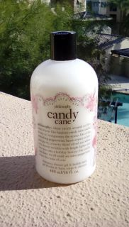 PHILOSOPHY BRAND NEW CANDY CANE SHAMPOO, SHOWER GEL, AND BUBBLE BATH, 16 OZ., SMELLS GREAT!!!!