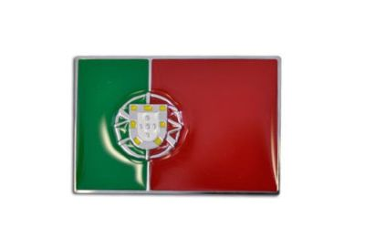 Find PORTUGAL FLAG Chrome Emblem Badge - portuguese flag NEW motorcycle in Watertown, Massachusetts, United States, for US $5.90