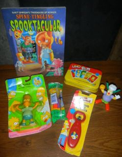 The Simpsons Lot Beer Opener Spooktacular Book UNO Game Pez & Figure