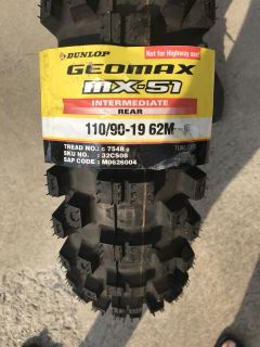 Motorcycle Rear Tire New