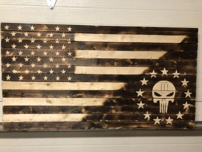 Punisher Wood Flags