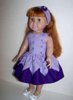 Doll Dress and Headband for 18 inch doll such as American Girl dolls