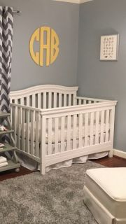 Delta Children white baby crib
