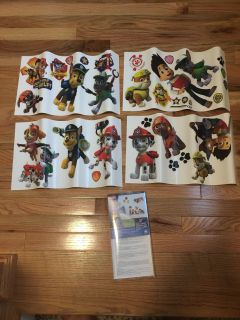 Paw Patrol Peel & Stick Wall Decor. 37 Wall Decals. Excellent Condition.