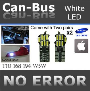 Buy TMZ 4pcs Samsung Chips White T10 Apple style Canbus 14 LED License Plate #PH155 motorcycle in Monterey Park, California, United States, for US $6.83