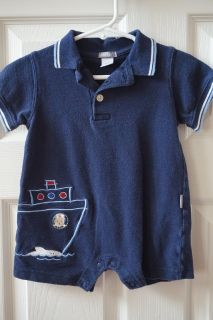 Boys Carter's Sailboat Collared Jumper Size 6 Months