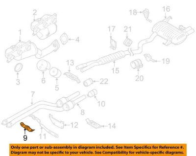 Sell BMW OEM 07-13 328i 3.0L-L6 Exhaust System-Converter & Pipe Clamp 18207524535 motorcycle in Shrewsbury, Massachusetts, United States, for US $18.84