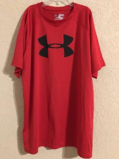 Under Armour Red Active Sport Gym Short Sleeve Shirt. Size Youth XL Brand New. Perfect Condition