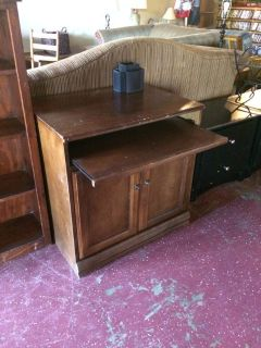 Solid Wood Desk Cabinet