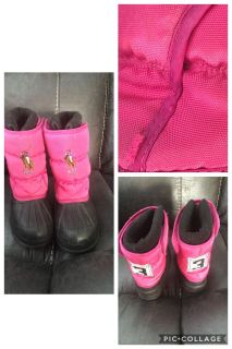 Girls size 10 polo snow boots