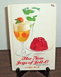 Vintage 1975 The New Joys of Jello Gelatin Dessert Recope Hard Cover Cookbook Cool Retro Pictures