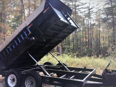 "Dump trailer 82"" wide inside deck (the widest on the market)"