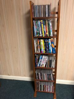 Wood Media Storage for DVDs, CDs, VHS, Tapes