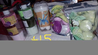 New bath products bath bombs lotion bodywash