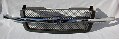 Buy $ CHROME GRILLE 2003-2005 CHEVY SILVERADO Pickup motorcycle in Saint Paul, Minnesota, US, for US $158.00