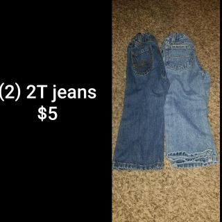 (2) 2T jeans