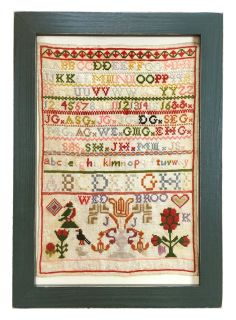 Antique framed British sampler